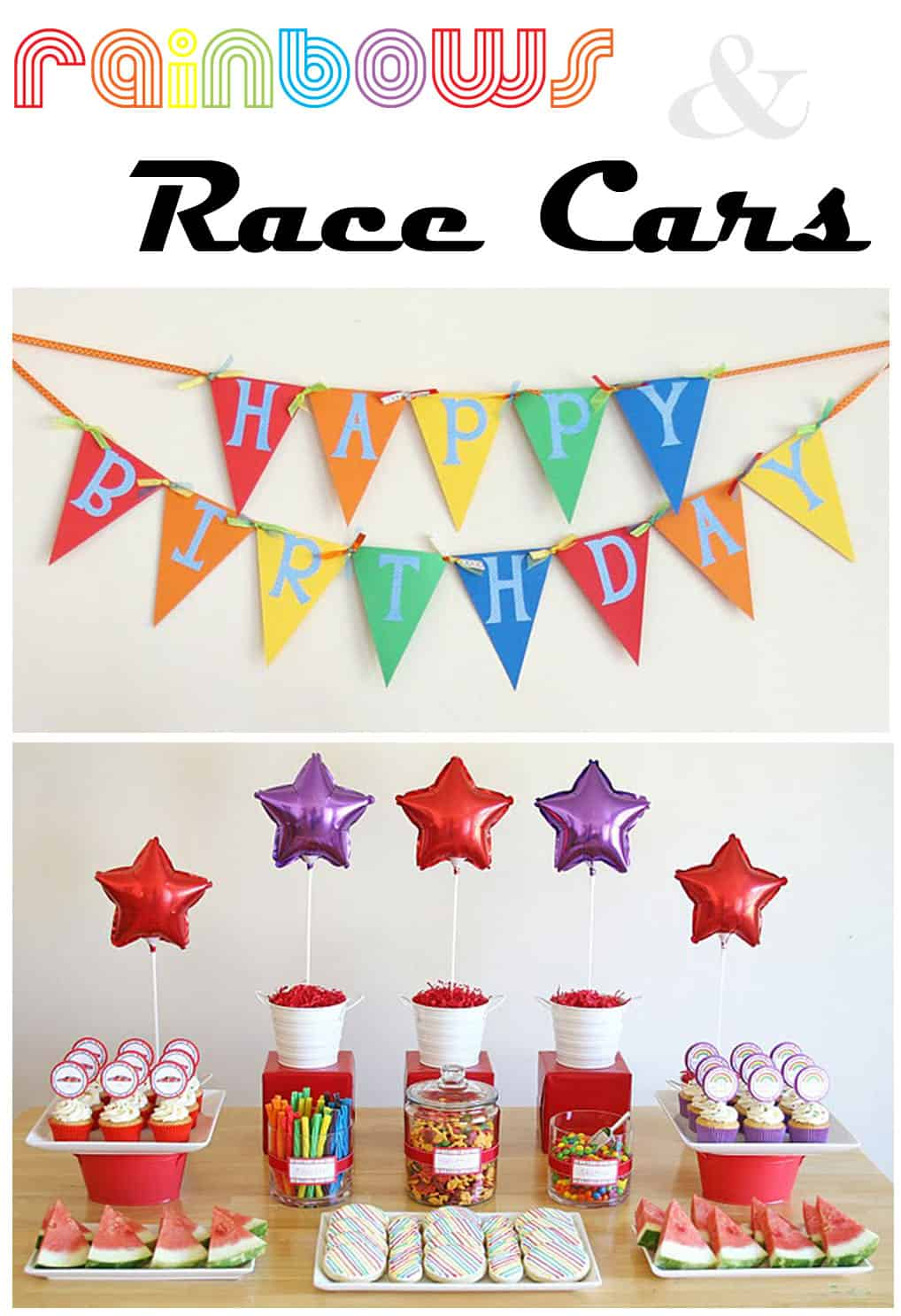Party Themes Rainbows And Race Cars Thoughtfully Simple