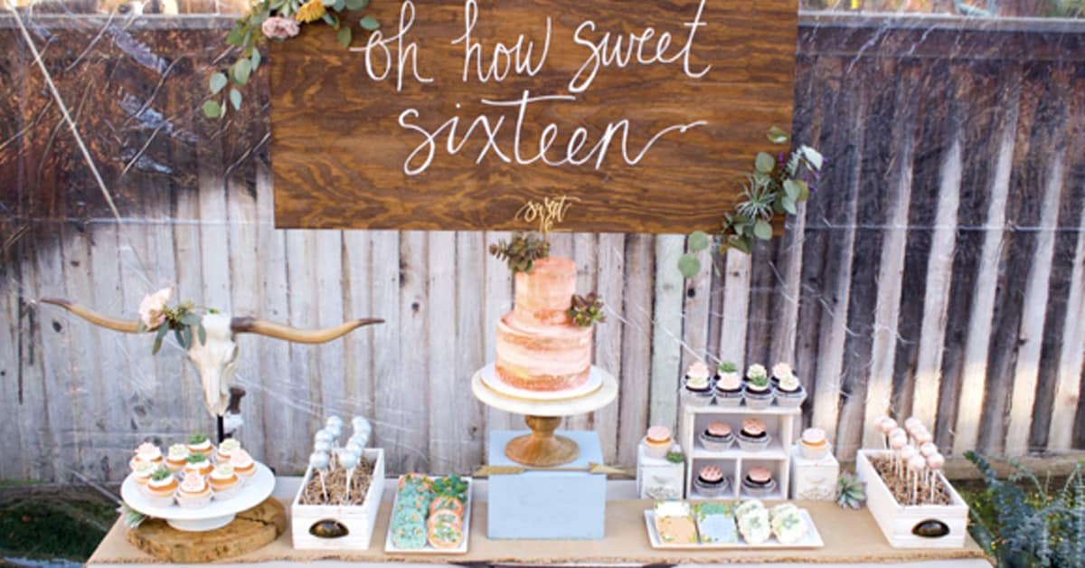 Boho Themed Party Succulents And A Laid Back Boho Vibe