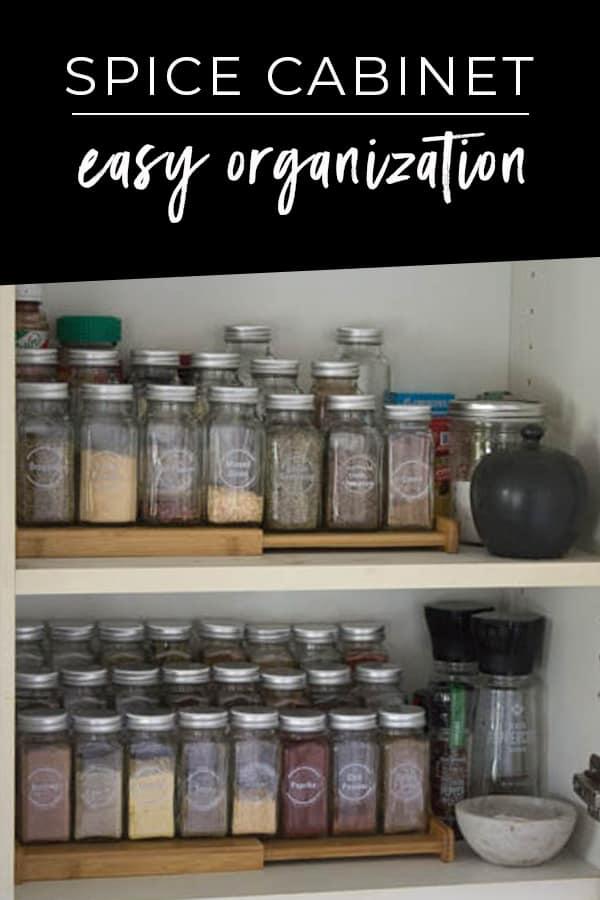 Simple Spice Cabinet Organization
